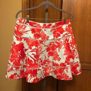 Banana Republic flowered print short skirt